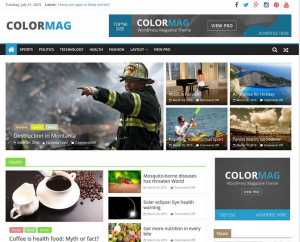 color magazine theme pbn
