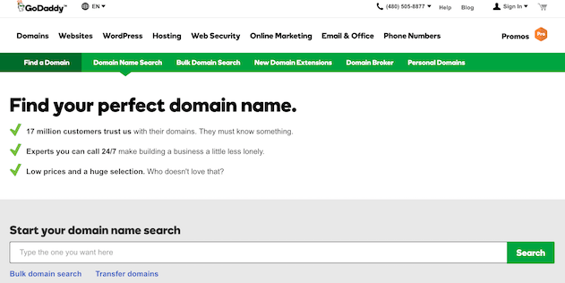 finding domain names