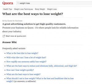 quora weight loss